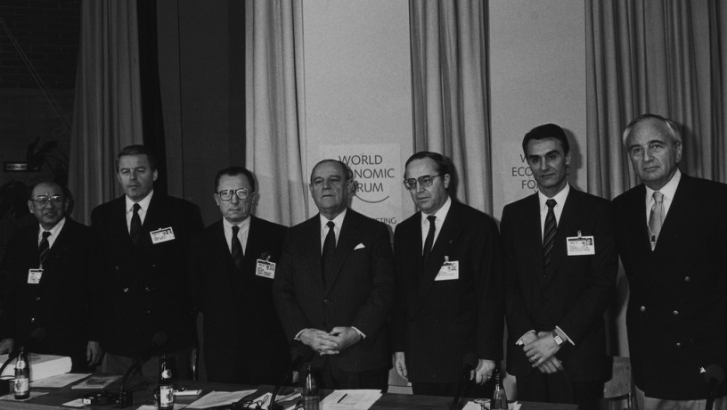 World Economic Forum Annual Meeting 1989 -  Raymond Barre