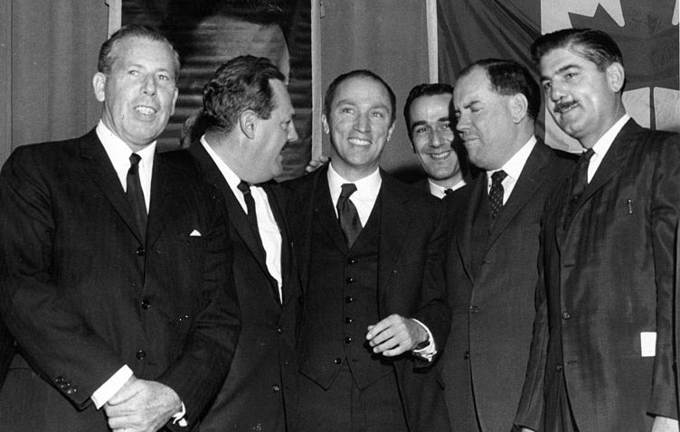Pierre Elliot Trudeau after being nominated to represent riding of Town of Mount Royal circa 1965
