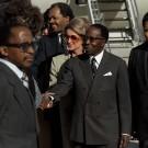 Le Président Leopold Senigor du Sénégal (au milieu) - 1980
