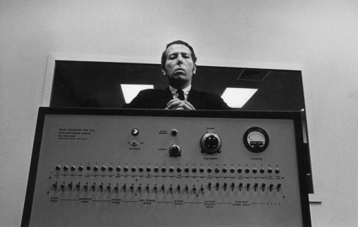 Stanley Milgram with his shock machine
