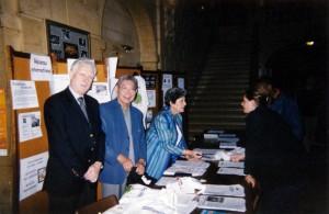 Stand de l'Alliance en 1991 avec Guy Fouchet, Paul Marcel et Françoise Ducastel