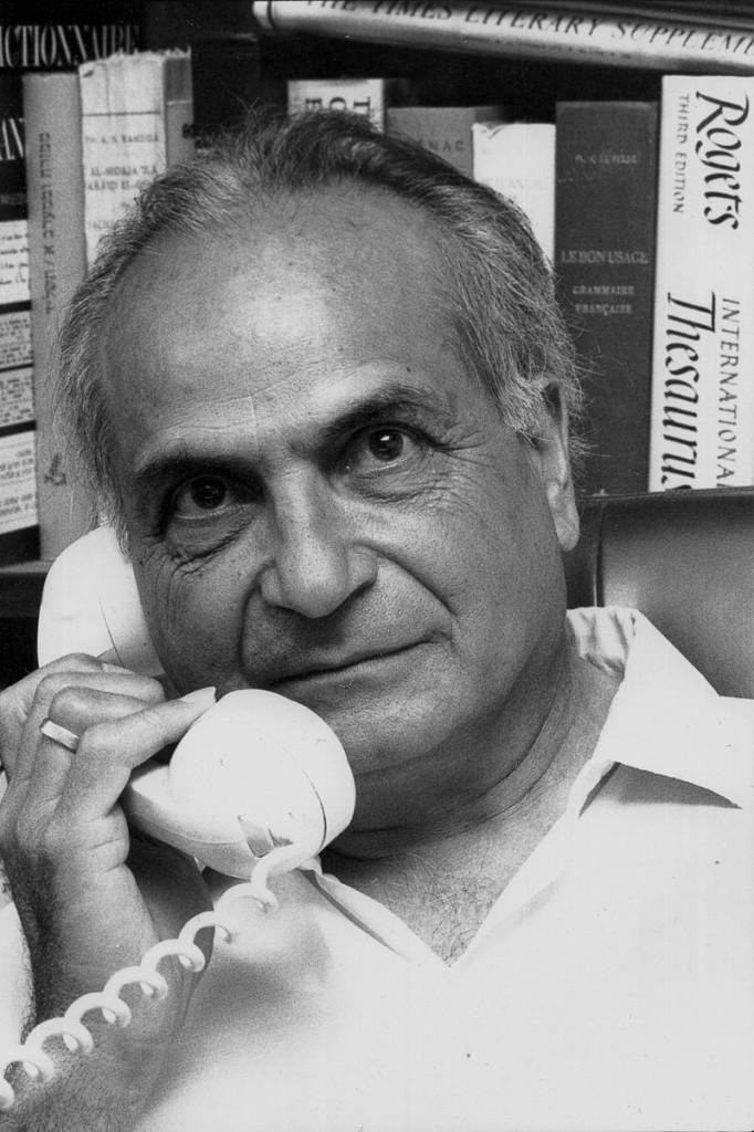 André Chouraqui, écrivain et ancien vice-maire de Jérusalem. 1979 © Claude Truong-Ngoc / Wikimedia Commons