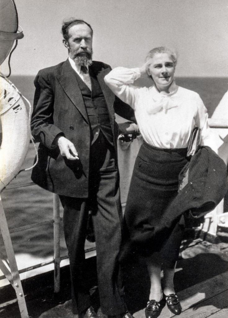 André Honnorat et sa femme