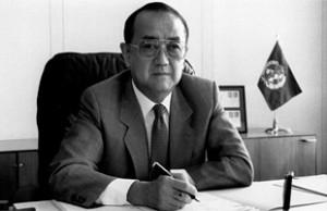 Dr Hiroshi Nakajima - Photos: WHO/Tibor Farkas